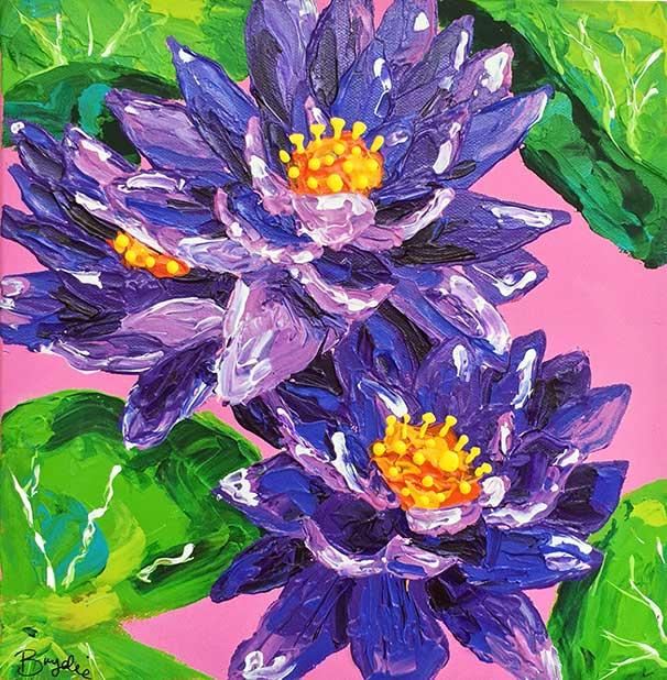 purple-waterlillies-painting-brydie-perk
