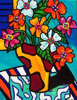 gerberas-in-spotted-vase-painting-brydie