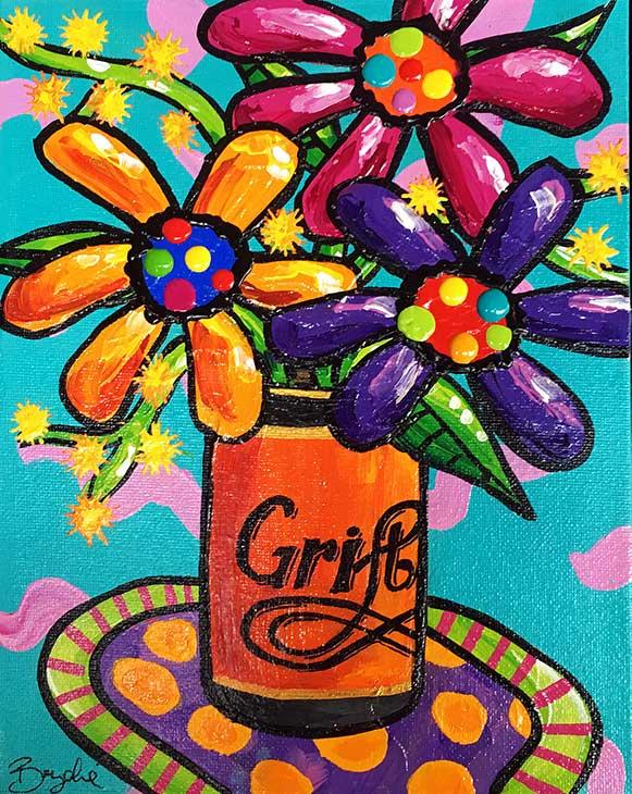 gerberas-grifter-beer-painting-brydie-pe