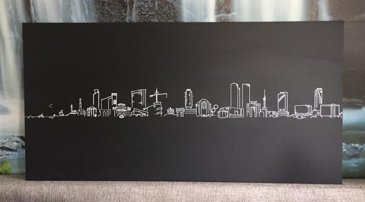 Tel Aviv skyline by Mekomi