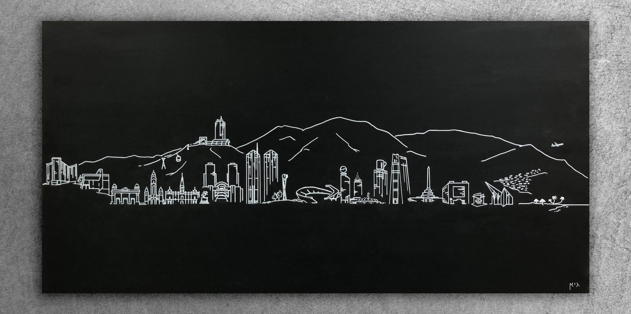 Custom - Caracas (Paint on Wood 2'x4').j
