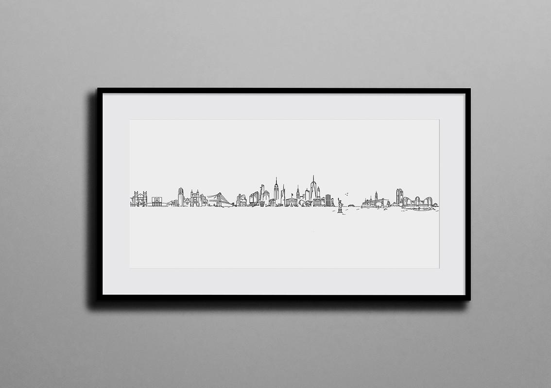 Custom made Tel Aviv skyline by Mekomi - Hoboken.jpg