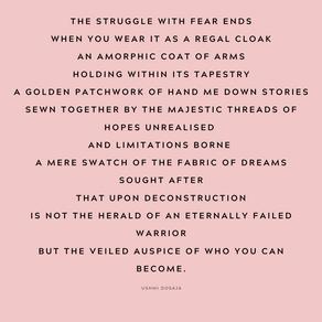 I wear my fear.