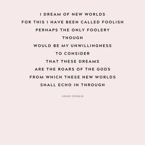 I am a dreamer.