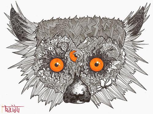 Doodle Lemur Print