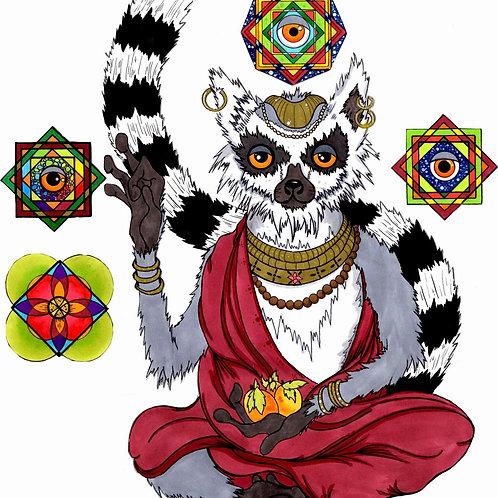 Lemur Sage Print
