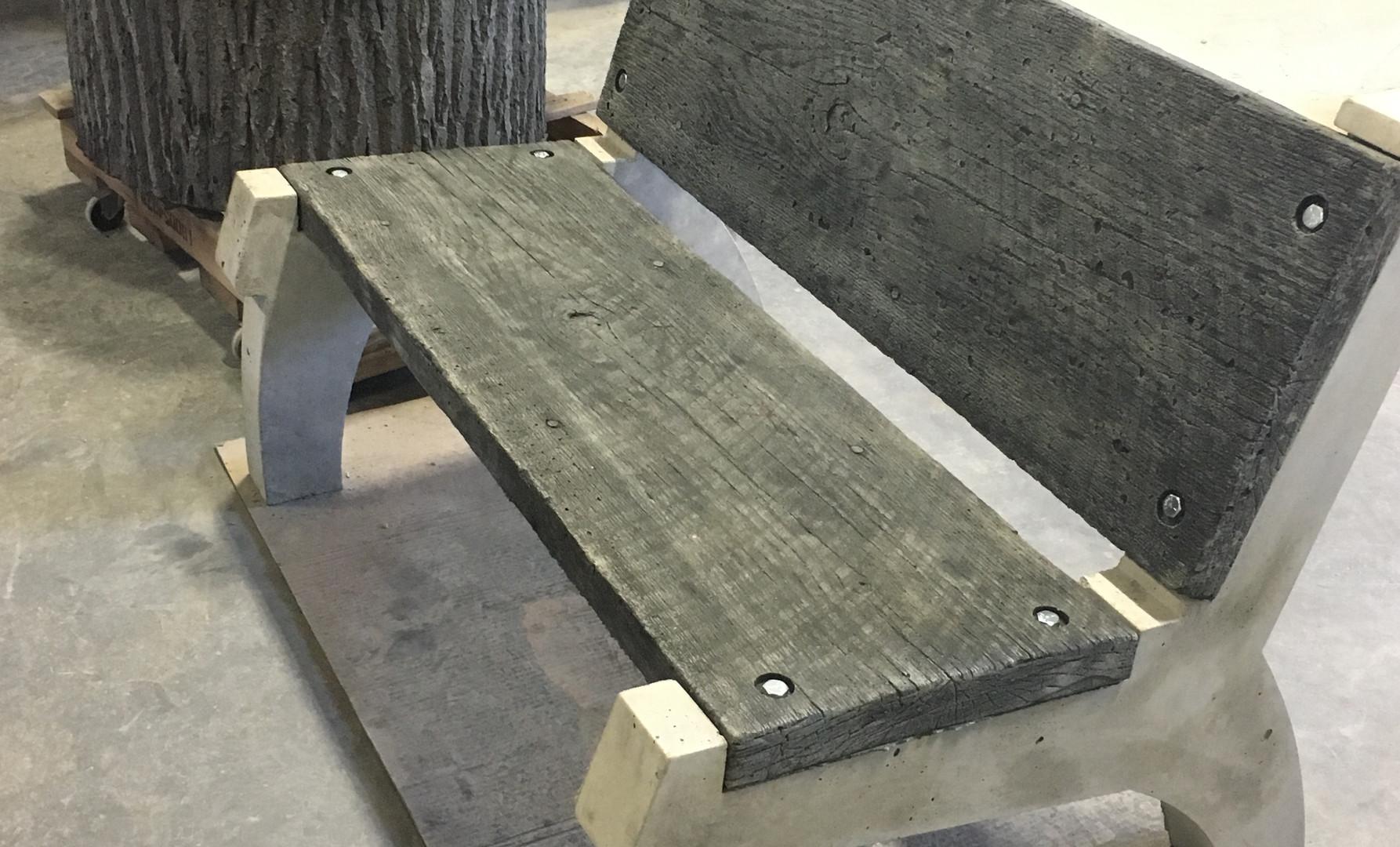 Concrete Bench & Fire Pit