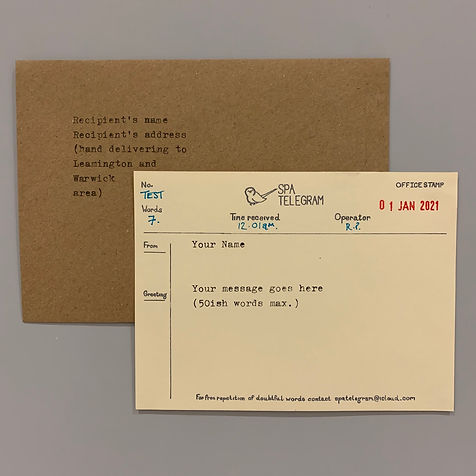The Spa Telegram template
