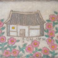 조수정, 019, 꽃비였어, 65 x 53 cm, 삼베캔버스에 혼합재료,