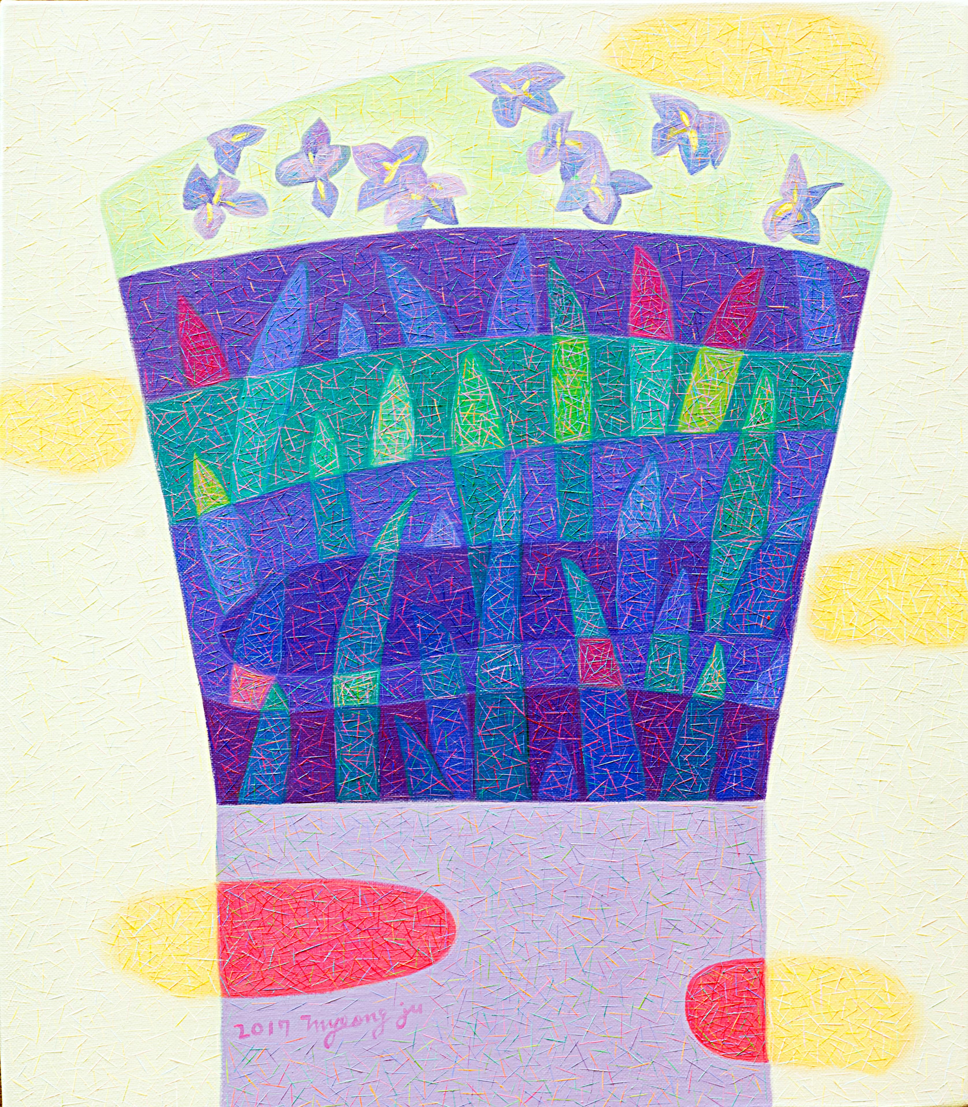 (차명주 1) _ 아이리스, 53x45.5cm,oil on canvas