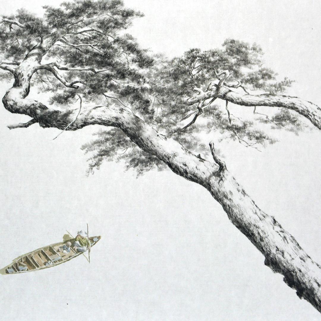 003, 송승호, 정 情 Ⅱ, 81.0 x 53.2 cm, 장지에 수묵담
