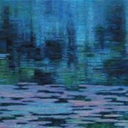 012, 이미경, 수련 이야기, 72.7 x 36.5 cm (20호 변형