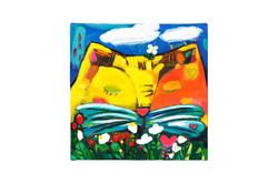 009, 봄이 오나 봄, 20 x 20 cm, oil on canvas,