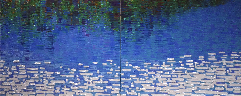 Meditation Landscape-의암호 200.0×80.3㎝, Oil on canvas, 2018년作