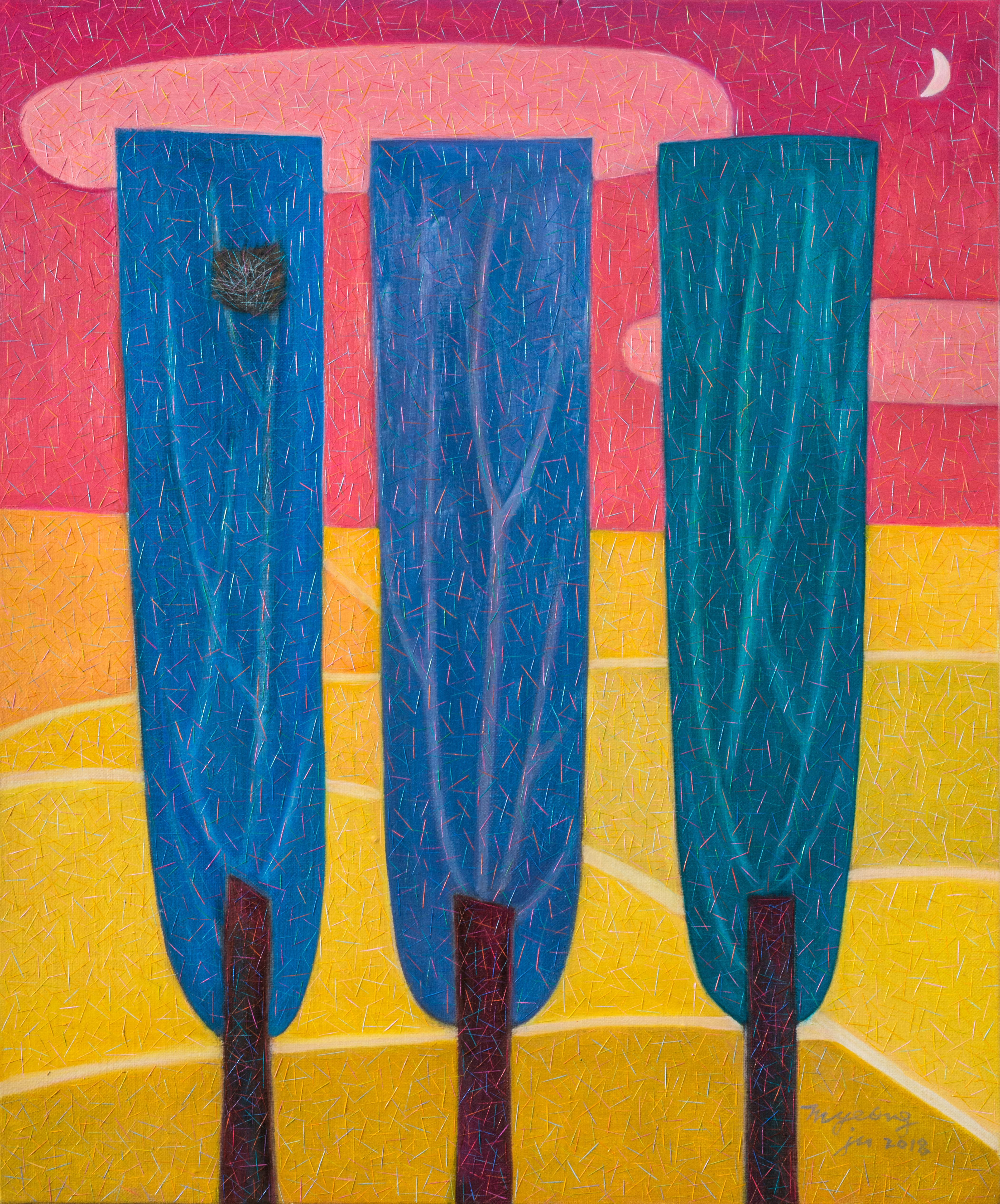 미루나무 세 그루  60.6 × 50.0 oil on canvas