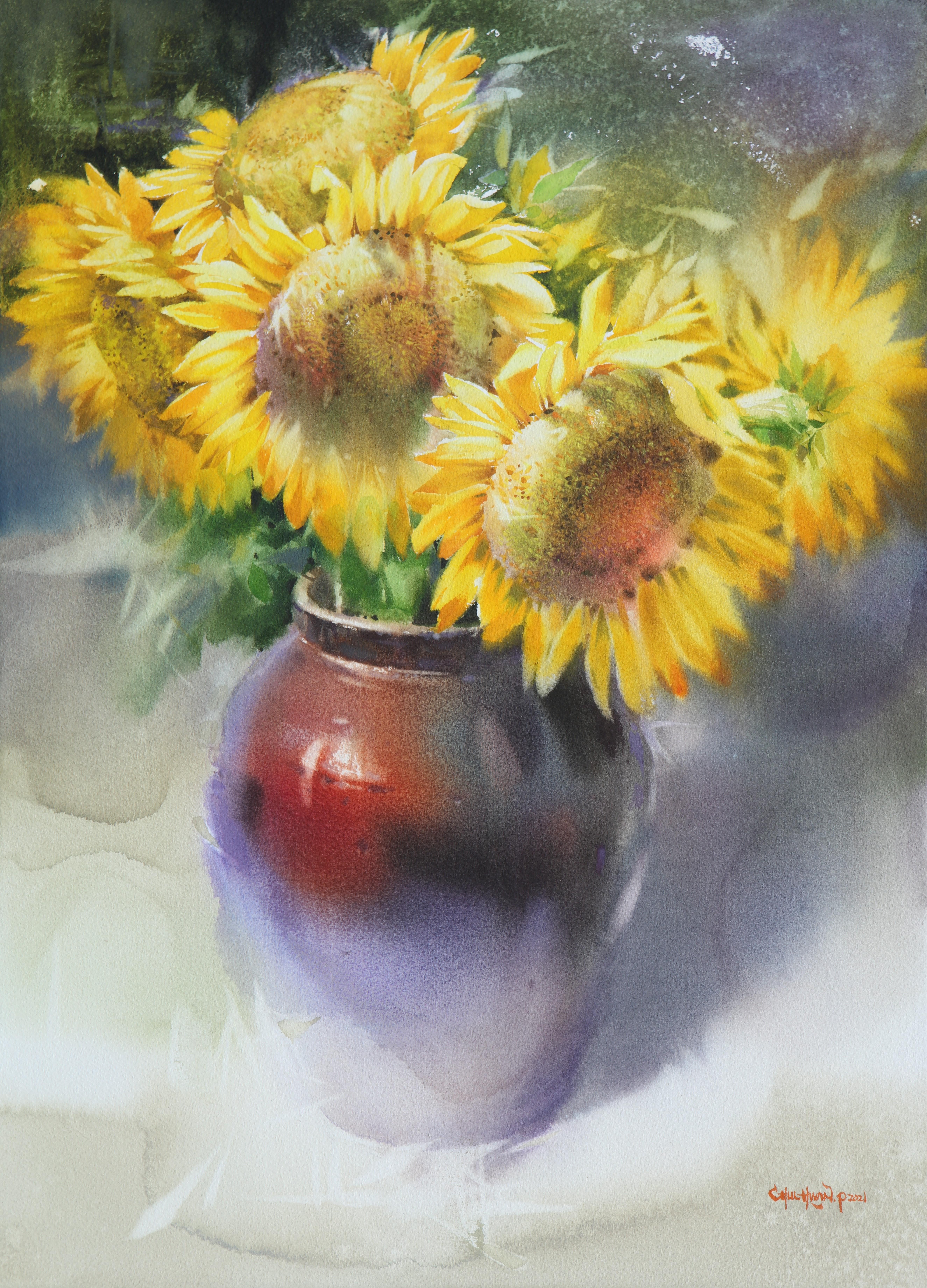 017, 박철환, Sunflower2, 72.7 x 53