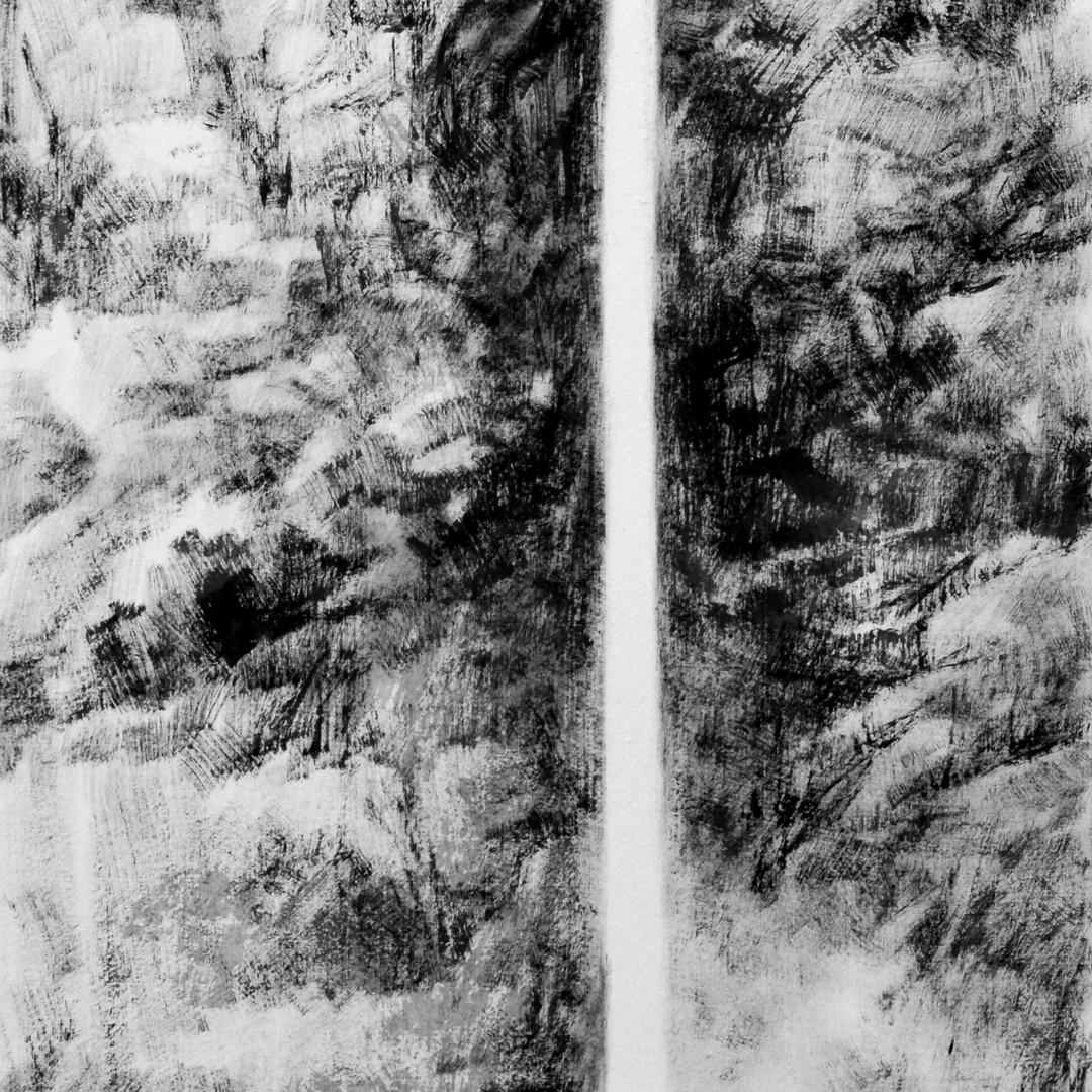 009, 틈2,  122x45cm,  화선지에수묵,  2016.JPG