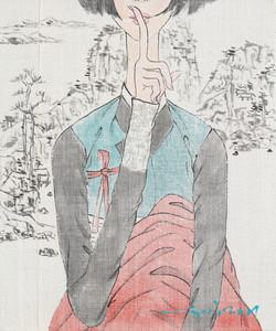최경자2, 꽃순이_쉿2102, 45.5 x 38