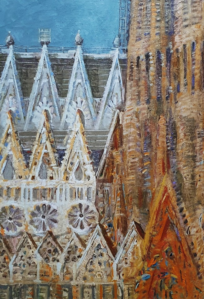 최수란, 가우디 성당, 61 x 95 cm, oil on canvas,