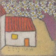 조수정, 018, 꽃 그늘에서..., 40.5 x 40.5 cm, 황마캔