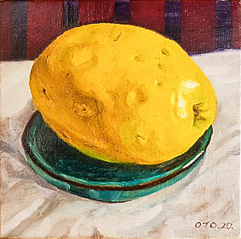 006, 모과8, 20 x 20 cm, oil on canvas, 202