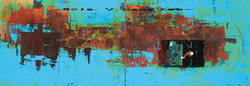 The Memory, 97.5 x 33.5 cm, 아크릴, 유화 및 혼합재료, 2017