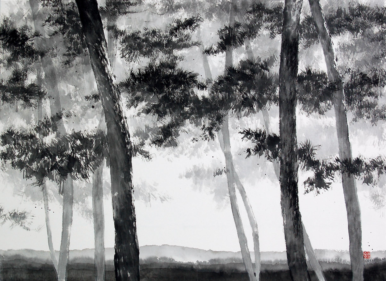 송승호, 송뢰, 73x53cm, 화선지에 수묵, 2014 (1)