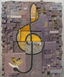 009, 김형길, 펭이의 여행07, 77 x 59 cm, 캔버스 위에 혼