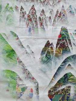 김성호1, 금수강산 19-1, 41 x 53 cm, 혼합재료, 2019.