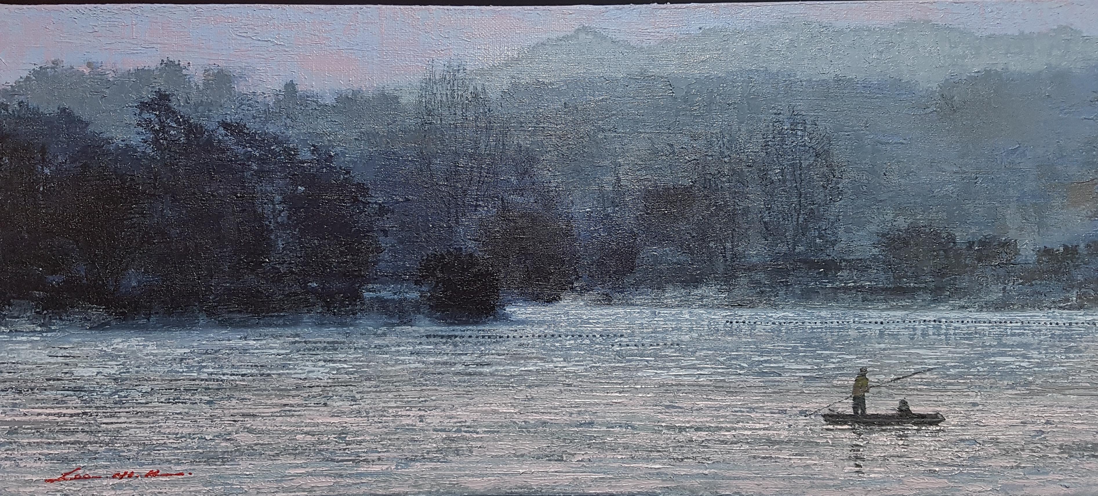 우포늪 이야기ㅡ흐르는 시간, 53×24cm, oil on canvas, 2017