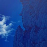 002, 봉정암 부처바위, 90 x 118 cm, acrylic on c