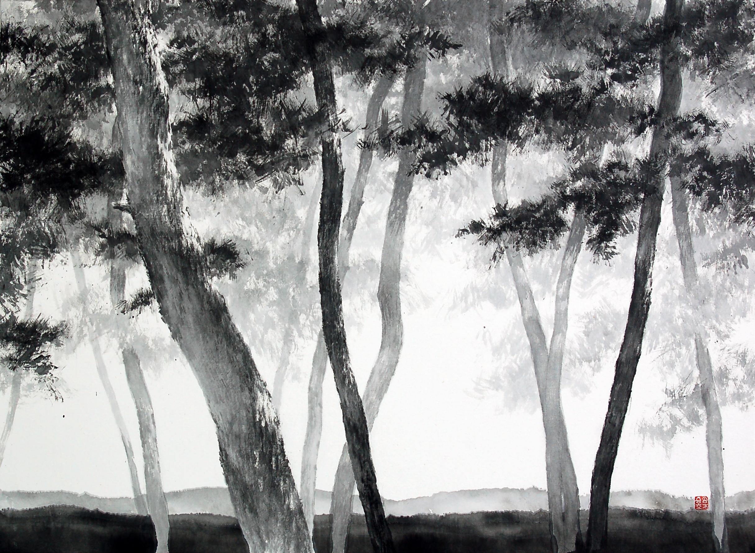 송승호, 송뢰, 73x53cm, 화선지에 수묵, 2014 (3)