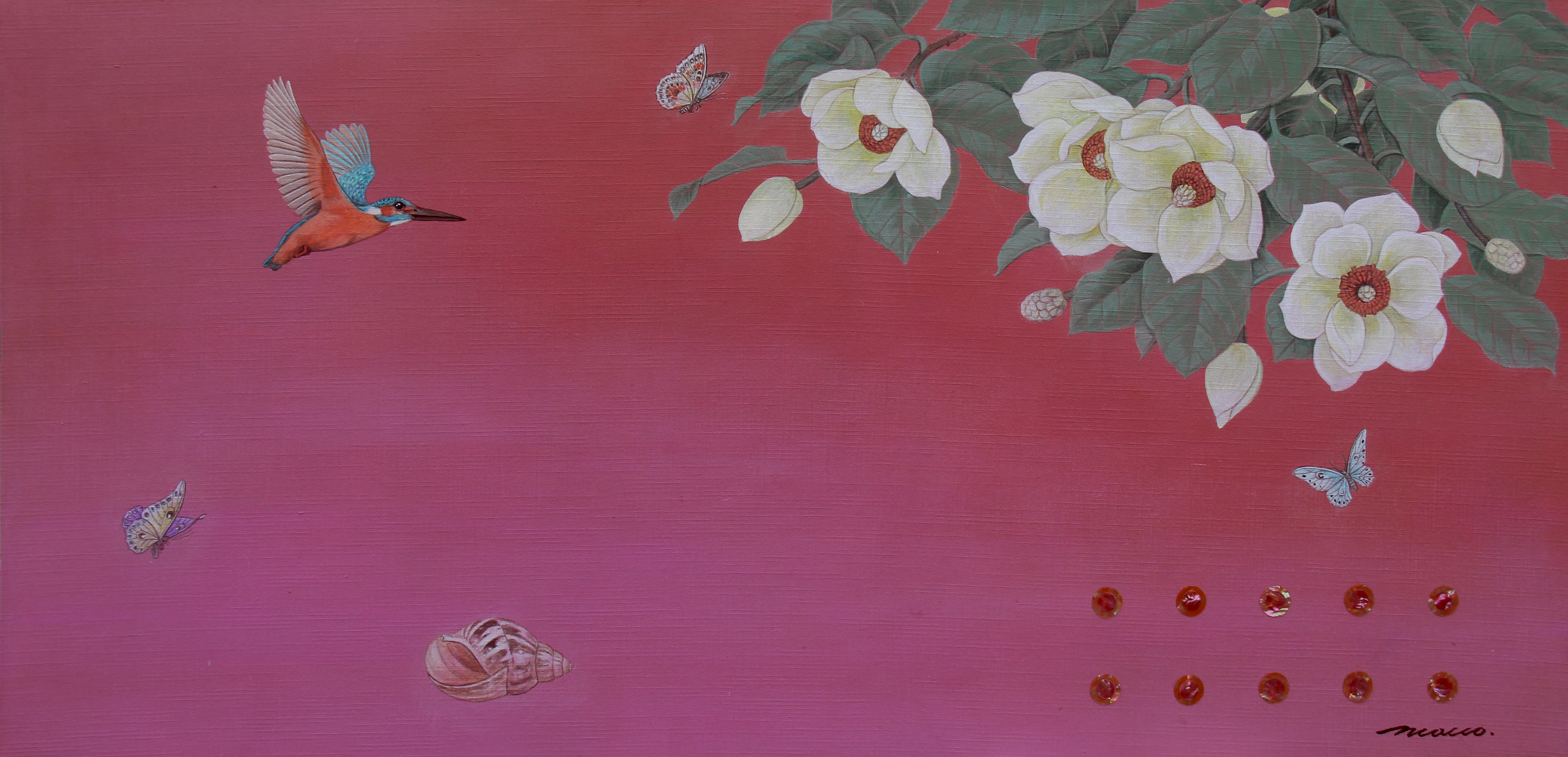 020, 조현동, 자연-순환-이야기, 110 x 53 cm, 천에 혼합재