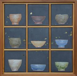 송승호, 차나 한잔 하시게4, 38 x 38 cm, 장지에 혼합재료, 2021, 90만원