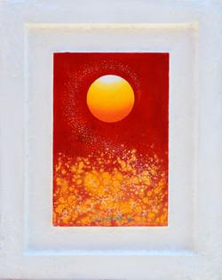 Sunrise - Faith,  Hope  and  Love, 44.5x56cm,  Acrylic , mixture  on  Wood, 2016