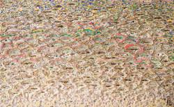 022, 김재신, 바다, 61 x 98 cm(30호), 나무판 위 색조각