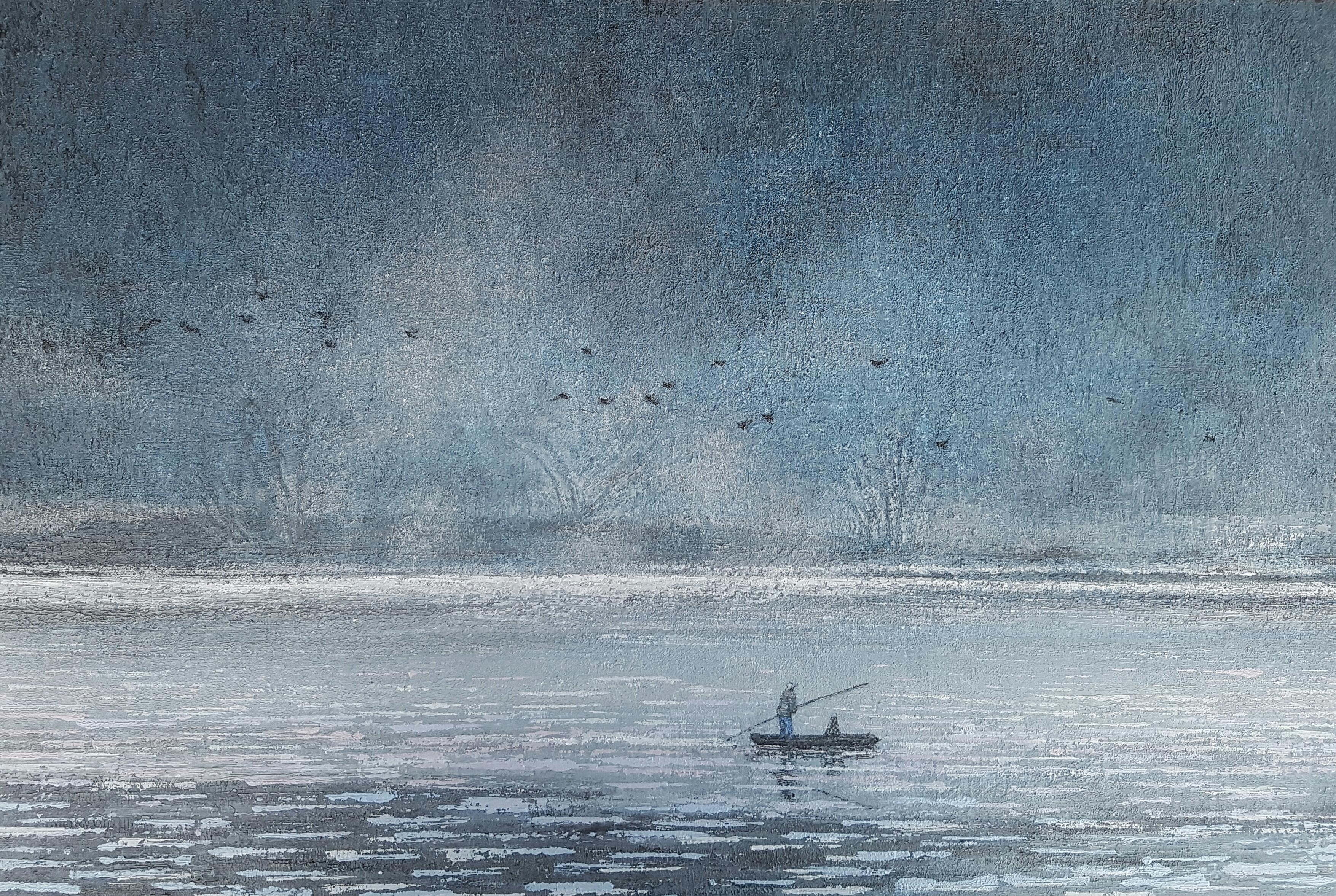 우포늪 이야기ㅡ흐르는 시간, 60.6×40.9cm, oil on canvas, 2017