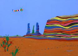 009, 최윤희, Mind map 21-9(모뉴먼트 밸리), 53.0 x 72.7 cm, 캔버스에 아크릴, 색동천, 2021, 300만원