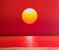 신동권, 일출-신망애, 45 x 53 cm, 캔버스 위에 아크릴, 202