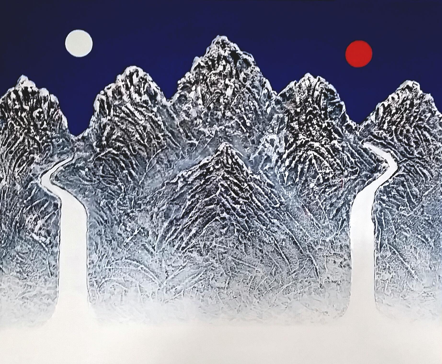 일월 오봉 60cmx73cm   혼합재료 2016 500만