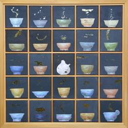 송승호, 차나 한잔 하시게10, 60.3 x 60.3 cm, 장지에 혼합재료, 2021, 250만원