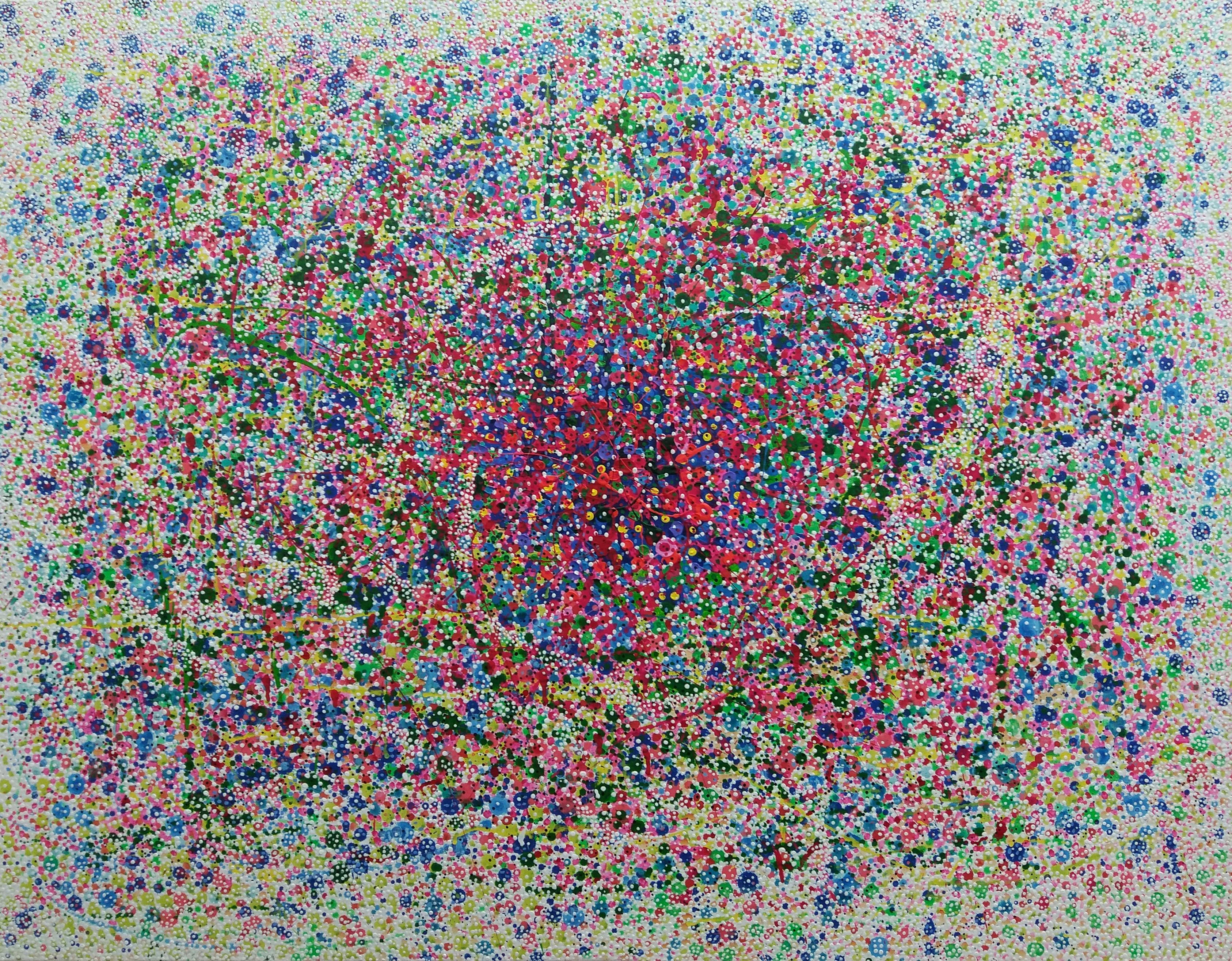 이경성, Thorn tree_A crack, the light, 117 x 91cm, 소멸기법, 2017 (3)