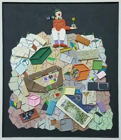 024, 김형길, 제일이라21, 53.0 x 45.5 cm, 캔버스 위에 혼합재료, 2021, 300만원