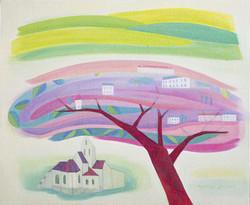 라일락향기 가득한 오베르마을.72.7.×60.oil-on-canvas