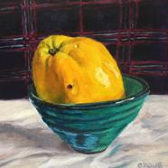 004, 모과3, 20 x 20 cm, oil on canvas, 202