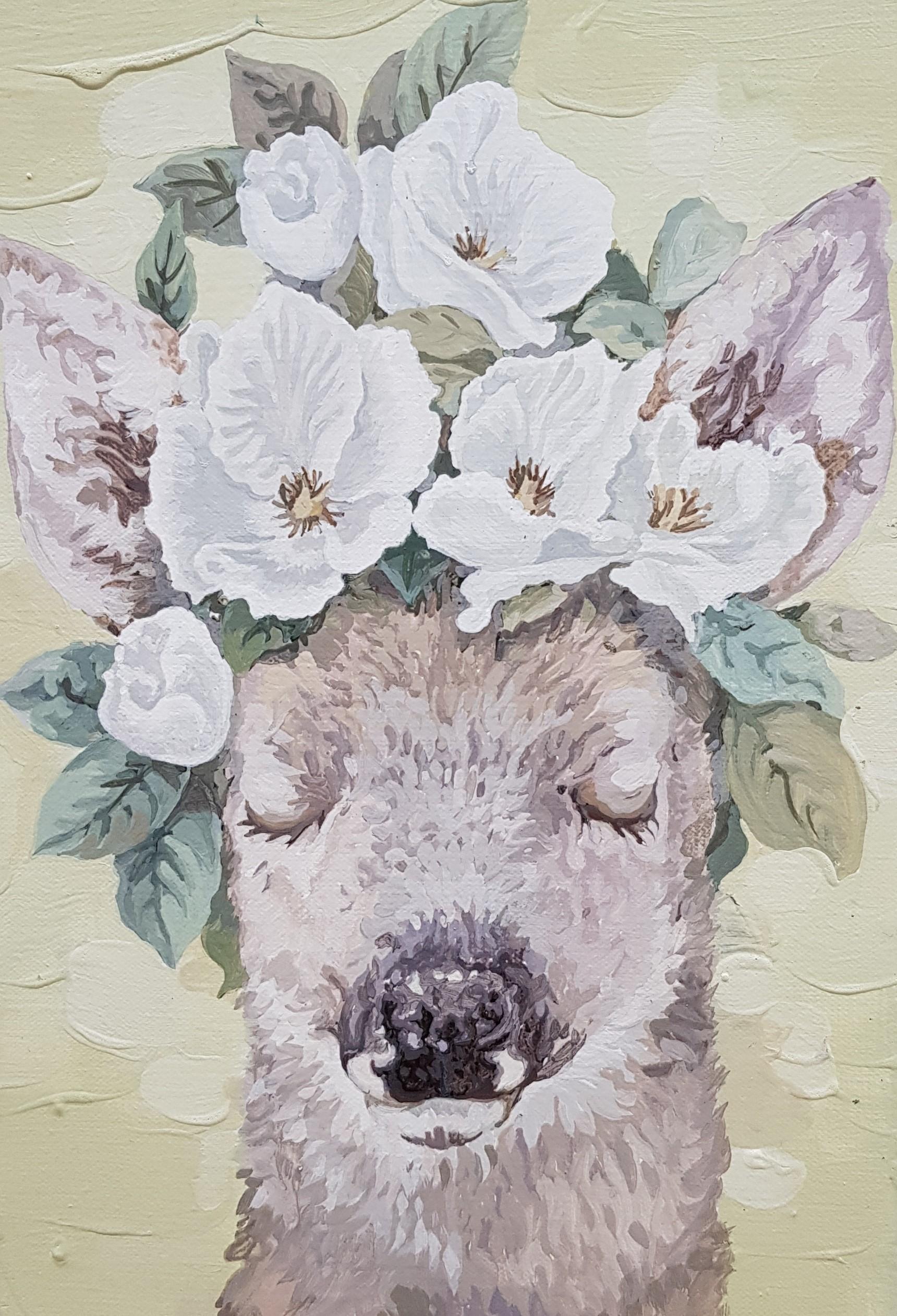 032, 박계숙, 나르시스의 정원-10, 23 x 34 cm, 캔버스에