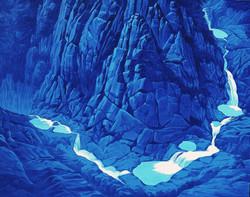 상팔담, 91 x 72 cm, acrylic on canvas, 2019