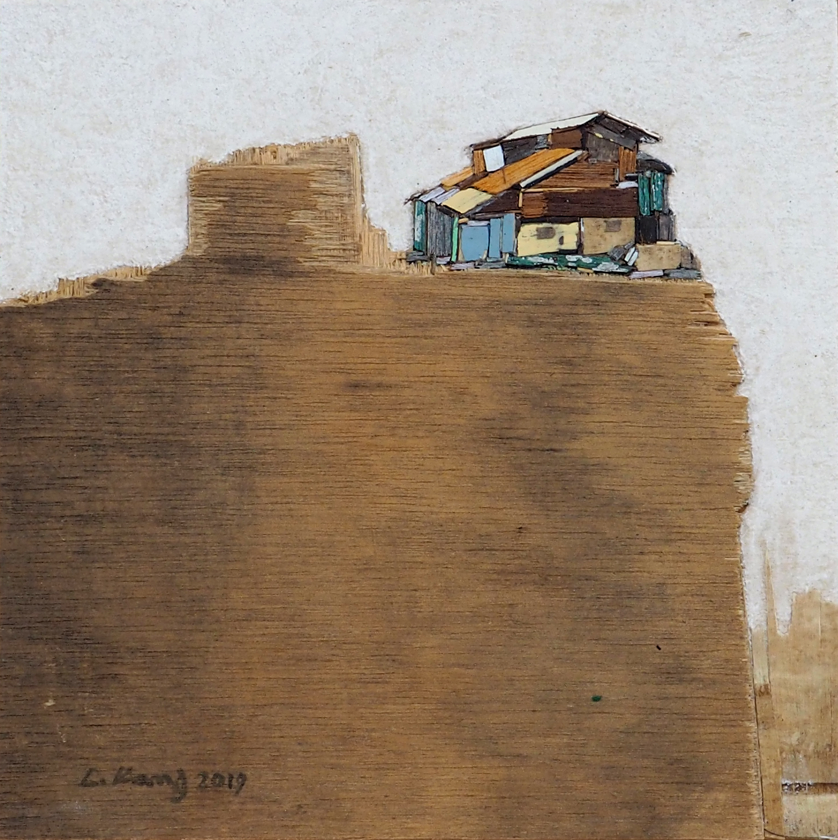 이부강5-2, 꿈꾸는 섬, 25 x 25 cm, Mixed media,