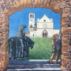 체팔루, 아씨시 그리고 연인, 50x50cm, Oil on Canvas,