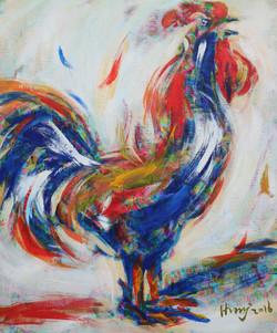 황미정, 닭Ⅰ 60.9 x 72.7cm Acrylic on canvas 2016